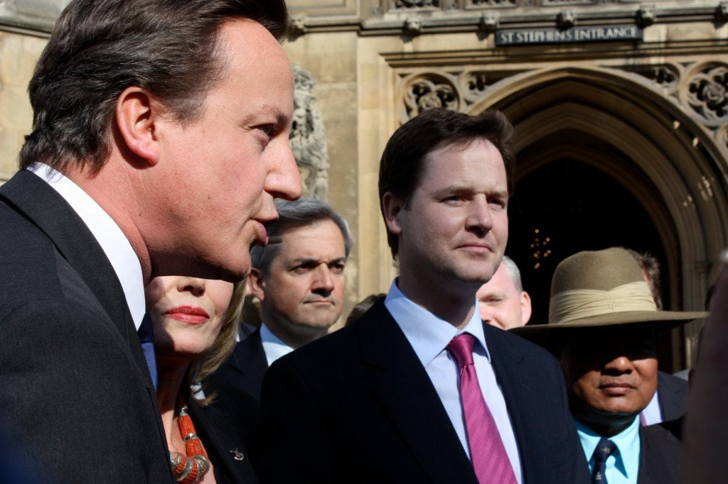 David Cameron and Nick Clegg both attended the final cabinet meeting of the coalition today.