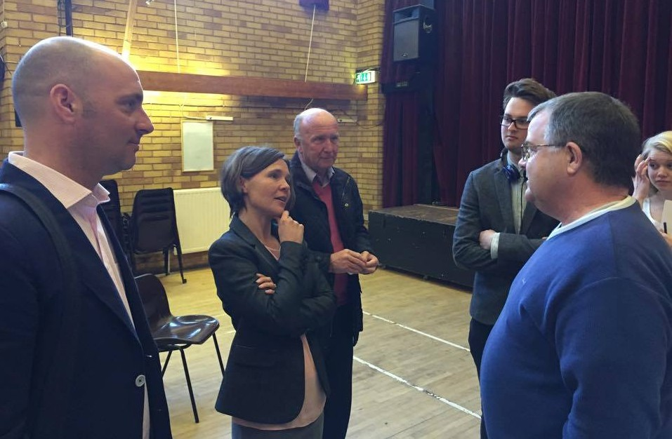 Lib Dem candidate Vicki Slade and Labour candidate Patrick Canavan at today's hustings event