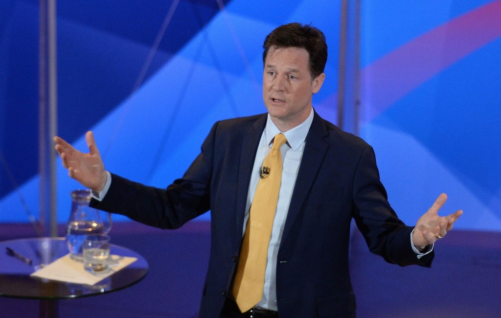 Nick Clegg at tonights question time.