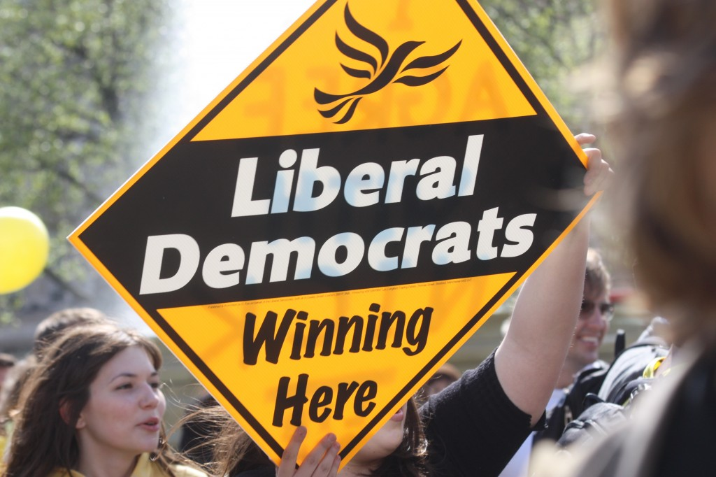 Students calling out broken Lib Dem promises