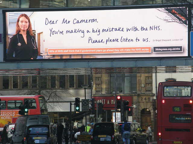 Privatisation of the NHS began under Blair's government