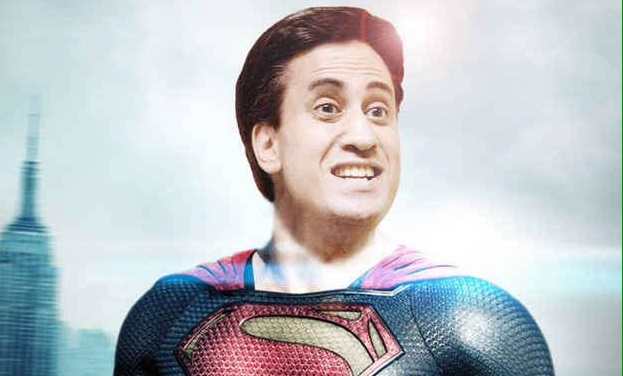 Ed Miliband, characterised as Superman by his growing online 'Milifandom'