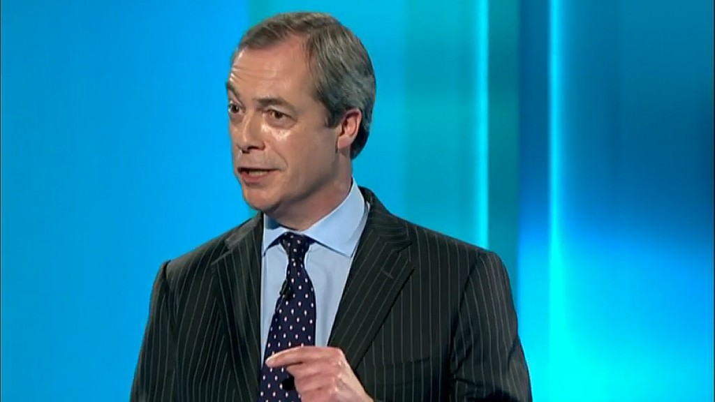 Nigel Farage floundered in the seven-way leaders' debate