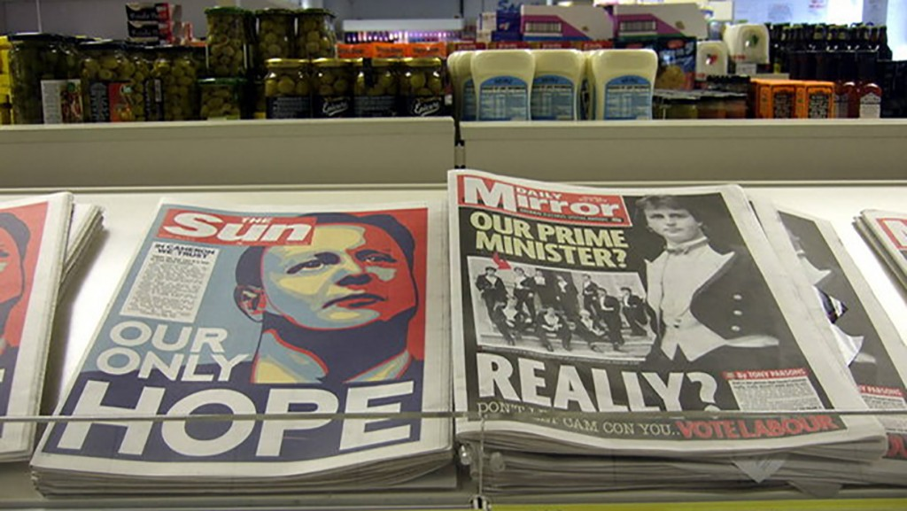 Tories gaining support from national newspapers