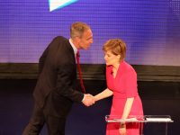 Labour would vote with SNP to keep Tories out, says Scottish Labour leader